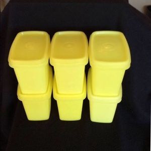 Vintage Yellow Tupperware stackable containers